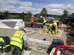 Construction process for Podium