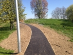 Reconstructed footpath in Kidbrooke park prepared for resin bonded gravel